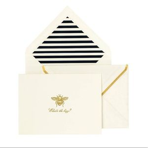 🆕 Kate Spade ♠️ What's the Buzz Notecards Set